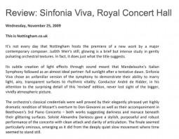 Review, 2009, Sinfonia Viva