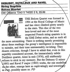 CD Review, 2001, The Sunday Times