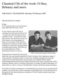 CD Review, 2007, The Daily Telegraph