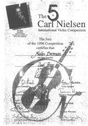 Prize, 1996, Carl Nielsen International Violin Competition