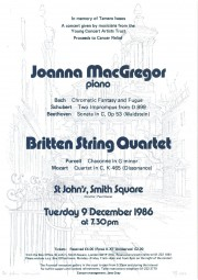 Programme, 1986, St John's, Smith Square