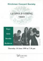 Programme, 1999, Wigmore Hall