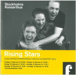 Programme, 2003, Stockholms Konserthus