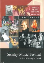 Programme, 2004, Semley Music Festival
