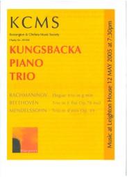 Programme, 2005, Kensington and Chelsea Music Society