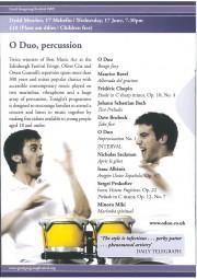 Programme, 2009, Gregynog