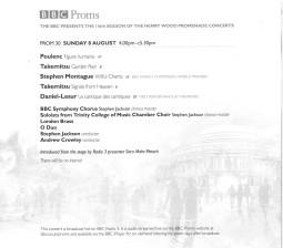 Programme, 2010, BBC Proms