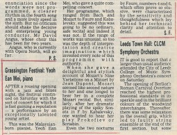 Review, 1988, Yorkshire Post