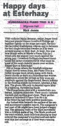 Review, 2000, Wigmore Hall