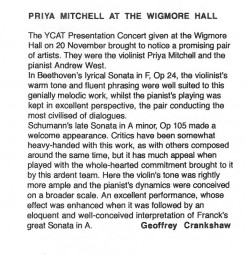 Review, Wigmore Hall