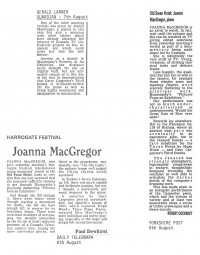 Reviews, 1986, Harrogate Festival