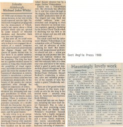 Reviews, 1988, Aldeburgh Festival