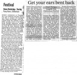 Reviews, 1996, Cheltenham Festival