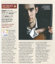 CD Review, 2012, The Strad