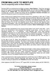 Press Release, 2002, Valerie Barber PR