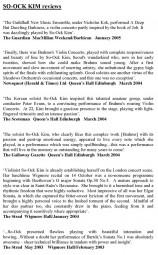 Reviews, So-Ock Kim, p1
