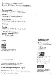 Programme, 2012, Royal Philharmonic Orchestra