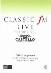 Programme, 2014, Classic FM Live, p1