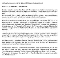 Review, 2014, Lichfield Live